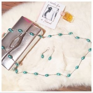 Jewelry - 🖤NWT••• Mint Pearl Necklace Set